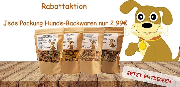 Rabattaktion Hunde-backwaren