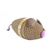 azoona Kratzspielzeug Maus in braun/lila