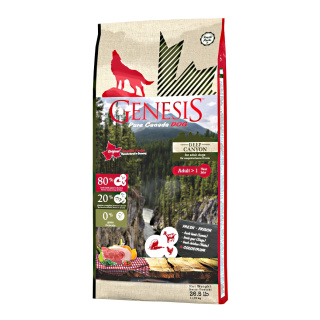 GENESIS Pure Canada Hundefutter Adult Deep Canyon mit Lamm & Huhn 11,79kg