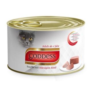 GODDESS Adult Katzennassfutter Soufflé mit würzigem Rind 85g