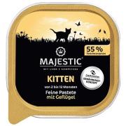 MAJESTIC Katzennassfutter Kitten Geflügel in Pastete...
