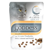 GODDESS Katzenfutter Senior Light mit Truthahn 750g