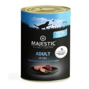 MAJESTIC Katzennassfutter Adult Shrimps, Rind und Huhn 400g