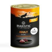 MAJESTIC Katzennassfutter Adult Putenherzen und Rind 400g
