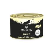 MAJESTIC Katzennassfutter Adult Huhn mit Rind und Ente 200g
