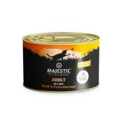 MAJESTIC Katzennassfutter Adult Rind und Putenherzen 200g