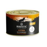 MAJESTIC Katzennassfutter Kitten Rind und Kalb 200g