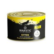 MAJESTIC Katzennassfutter Kitten Hühnerherzen und...