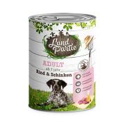 LandPartie Hundefutter ADULT mit Rind und Schinken 800g