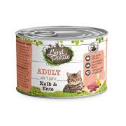 LandPartie Katzennassfutter ADULT mit Kalb und Ente 200g