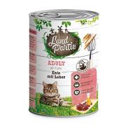 LandPartie Katzennassfutter ADULT mit Ente und Leber 400g
