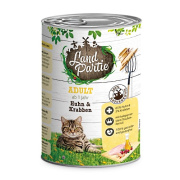 LandPartie Katzennassfutter ADULT mit Huhn und Krabben 400g