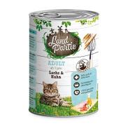LandPartie Katzennassfutter ADULT mit Lachs und Huhn 400g