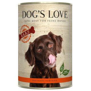 Dogs Love Hundenassfutter B.A.R.F. Rind Pur 400g