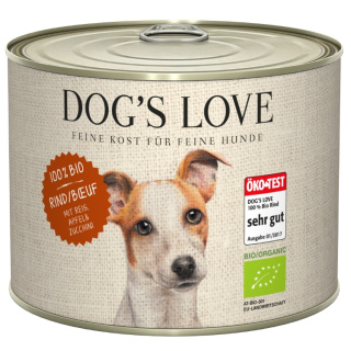 Dogs Love Hundenassfutter Bio mit Rind 200g