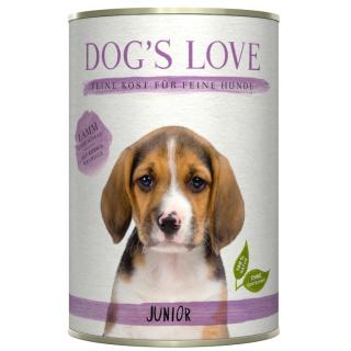 Dogs Love Hundenassfutter Junior mit Lamm 400g