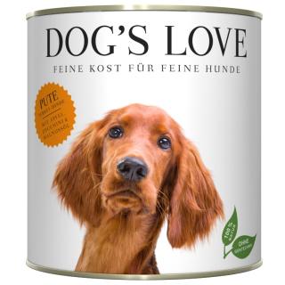 Dogs Love Hundenassfutter Adult mit Pute 800g
