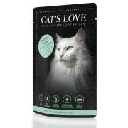 Cats Love Katzennassfutter Adult mit Pute pur 85g