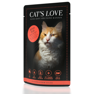 Cats Love Katzennassfutter Adult mit Rind Pur 85g