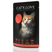 Cats Love Katzennassfutter Adult mit Rind Pur 85g