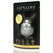 Cats Love Katzennassfutter Adult mit Huhn Pur 85g
