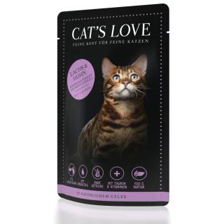 Cats Love Katzennassfutter Adult Mix mit Lachs & Huhn 85g