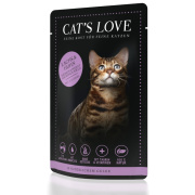 Cats Love Katzennassfutter Adult Mix mit Lachs & Huhn 85g
