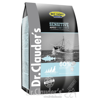 Dr. Clauder´s Best Choice Lifecycle Sensitive Adult mit Fisch und Reis 12,5kg