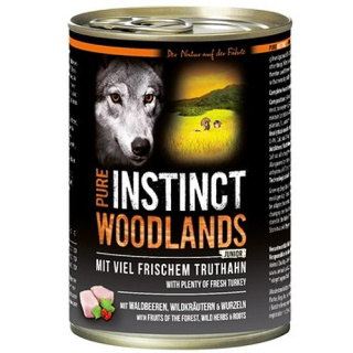 PURE INSTINCT Hundenassfutter Junior Woodlands mit Truthahn 400g