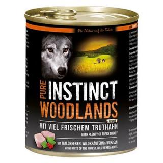 PURE INSTINCT Hundenassfutter Junior Woodlands mit Truthahn 800g