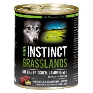 PURE INSTINCT Hundenassfutter Grasslands mit Lamm 800g