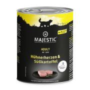 MAJESTIC Hundenassfutter Hühnerherzen und...