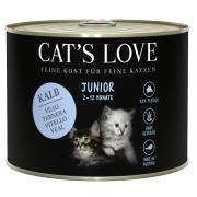 Cats Love Katzennassfutter Junior mit Kalb 200g