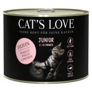 Cats Love Katzennassfutter Junior mit Huhn pur 200g