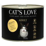 Cats Love Katzennassfutter Adult mit Huhn pur 200g