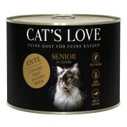 Cats Love Katzennassfutter Senior mit Ente 200g