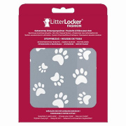 LitterLocker Fashion Bezug Cat paws grau