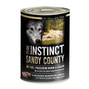 PURE INSTINCT Hundenassfutter Sandy County mit Huhn und...