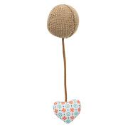 Trixie Ball mit Herz Ø 4,5cmx18cm Jute Stoff