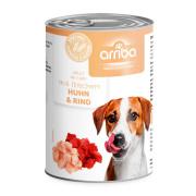 arriba Hundenassfutter Huhn und Rind 400g