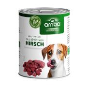 arriba Hundenassfutter mit Hirsch 800g