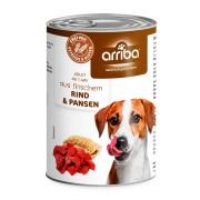 arriba Hundenassfutter mit Rind und Pansen 400g