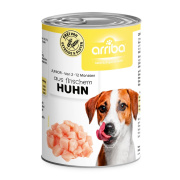 arriba Hundenassfutter Junior mit Huhn 400g
