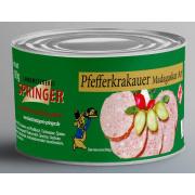 Landmetzgerei Springer Dosenwurst Pfefferkrakauer  190g
