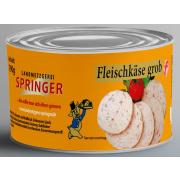 Landmetzgerei Springer Dosenwurst Fleischkäs grob  190g