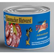Landmetzgerei Springer Dosenwurst Hausmacher Blutwurst 390g