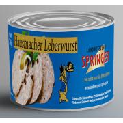 Landmetzgerei Springer Dosenwurst Hausmacher Leberwurst 390g