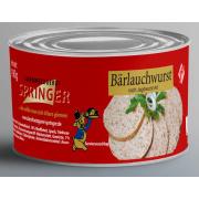 Landmetzgerei Springer Dosenwurst Bärlauchwurst  190g