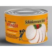 Landmetzgerei Springer Dosenwurst Schinkenwurst fein 190g