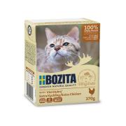 BOZITA Katzennassfutter Huhn in Gelee 370g Tetrapack